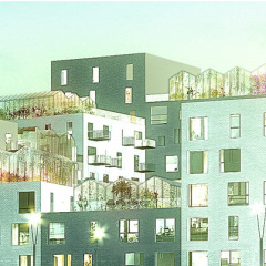 ADEPT y Luplau & Poulsen, viviendas en Aarhus, tecnne