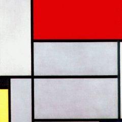 Piet Mondrian, Tableau I, tecnne