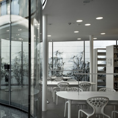 Arata Isozaki y Andrea Maffei, Biblioteca de Maranello, tecnne