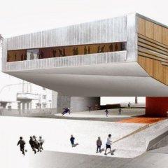 Mateo Arquitectura, Cultural Center in Castelo Branco, tecnne