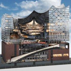 Herzog y de Meuron, Elbphilharmonie Hamburg, tecnne