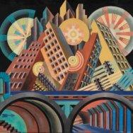 Fortunato Depero, Rascacielos y túneles, 1930.