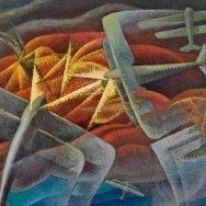 Gerardo Dottori, Batalla aérea sobre el golfo de Nápoles, 1942.