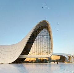 Zaha Hadid, Centro Heydar Aliyev,  tecnne