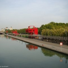 Bernard Tschimu, Folies, Parc de La Villette, tecnne