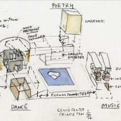 Steven Holl, Lewis Arts Complex, tecnne