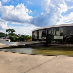 Oscar Niemeyer, Memorial de America Latina, Galeria, tecnne