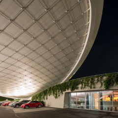 Graft Architects, Autostadt Roof and Service Pavilion, tecnne