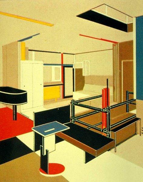 Rietveld el color en arquitectura tecnne arquitectura - El color en la arquitectura ...