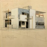 5 Casa Rietveld Schroder, perspectiva exterior 1924