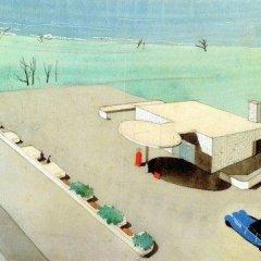 Arne Jacobsen, Texaco oil station, tecnne
