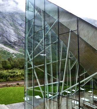 Reiulf Ramstad Arkitekter, Troll Wall Restaurant, tecnne