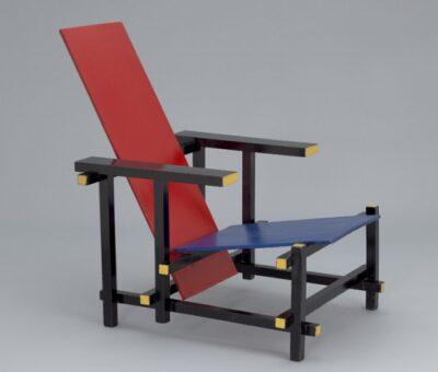 Gerrit Rietveld, Silla Roja y azul