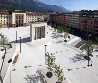 Landhauplatz, escultura urbana