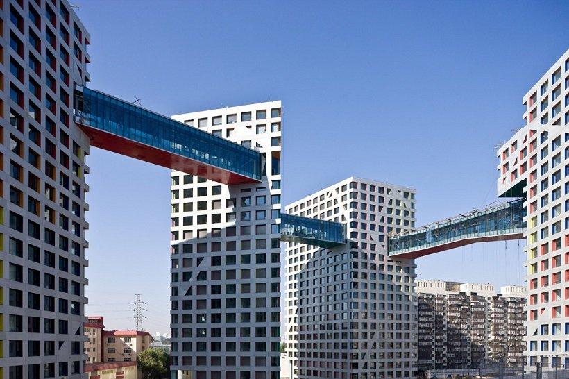 Steven Holl, Linked Hybrid Complex Beijing, tecnne