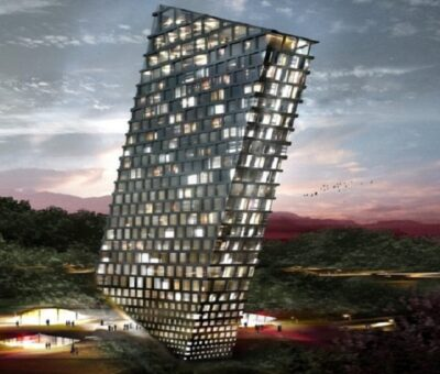 BIG, Tilting Building Huaxi