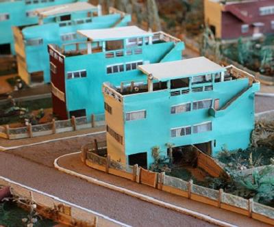 Le Corbusier, maqueta de ciudad Frugés