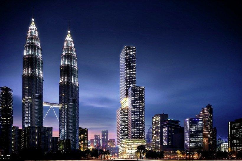 Ole Scheeren, Angkasa Raya , Landmark Tower, tecnne