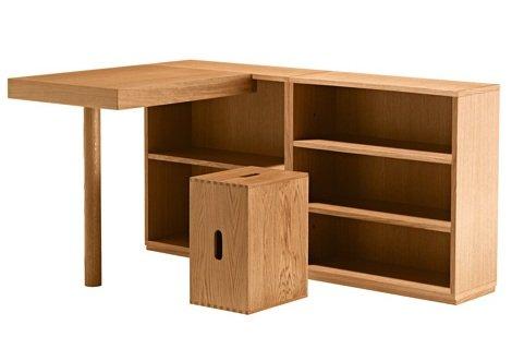 Le corbusier muebles de madera tecnne arquitectura y for Muebles infantiles de diseno