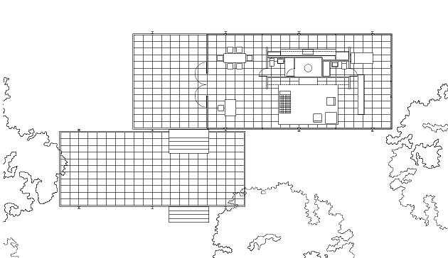 Mies Van der Rohe, Casa Farnsworth, tecnne