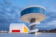 Oscar Niemeyer, Centro Niemeyer en Avilés, tecnne