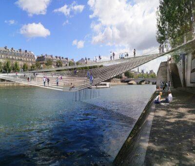Un nuevo puente peatonal en París