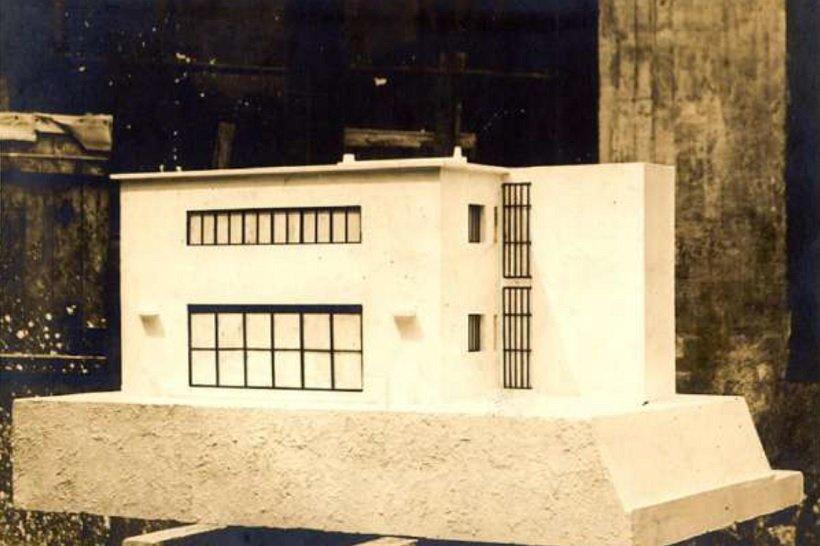 Le Corbusier, Maqueta Villa Besnus, tecnne