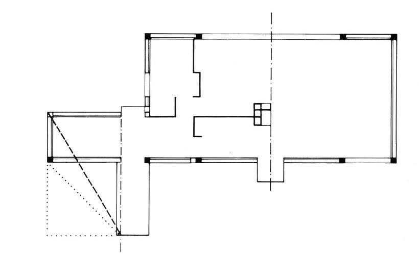 Le Corbusier, Villa Besnus, esquema tecnne
