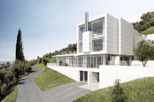 Richard Meier, Villa Gardone, tecnne