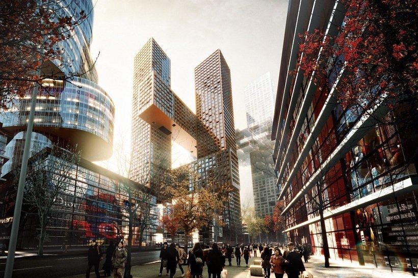 Bjarke Ingels Group, Cross Tower, tecnne