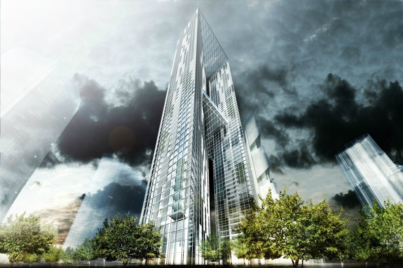 Murphy/Jahn architects, Pentominium, tecnne