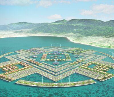 Ciudad flotante en Haití