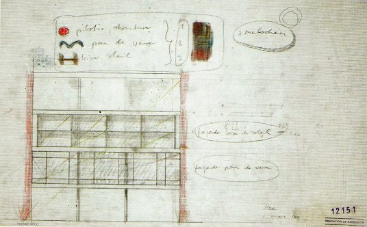 PLANO 12151 TRES MELODIAS DE LE CORBUSIER, TECNNE