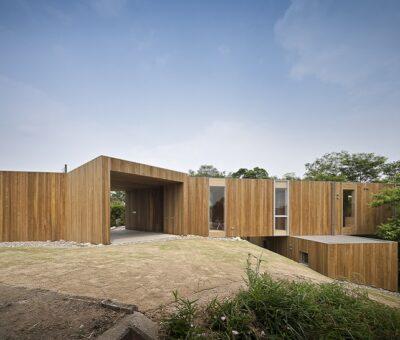 Casa participativa con la naturaleza