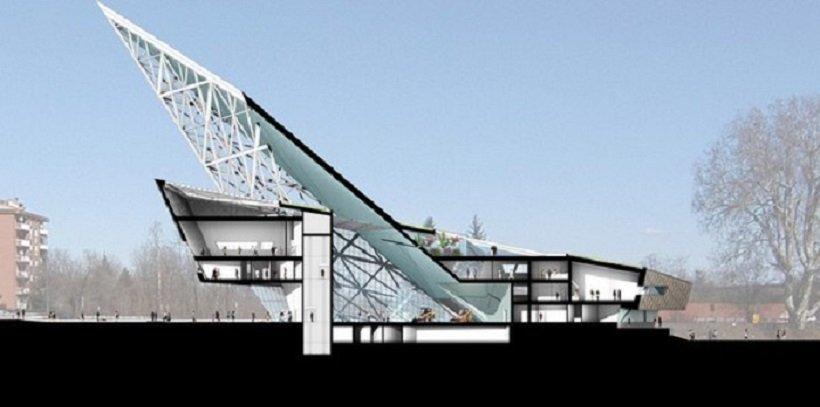 Daniel Libeskind, Palazzo dell'Edilizia di Alessandria, tecnne