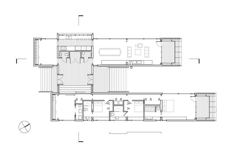 Mackay-Lyons Casa doble cáscara tecnne
