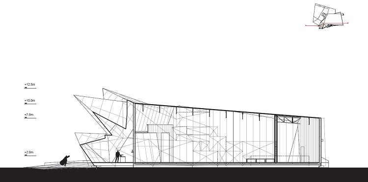 Coop Himmelblau, Pavilion 21, tecnne