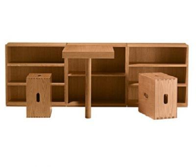 Le Corbusier, muebles de madera