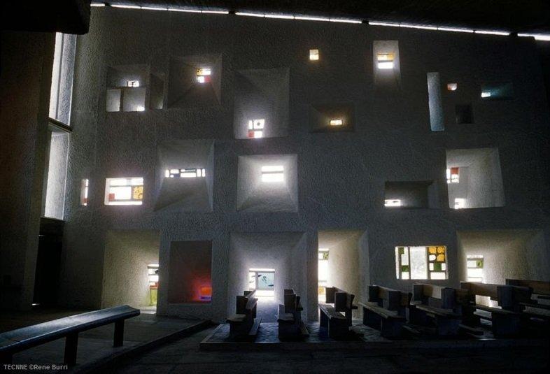 Le Corbusier Ronchamp Tecnne