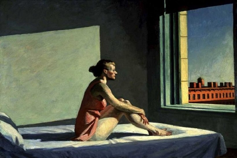 Edward Hopper, Morning Sun tecnne