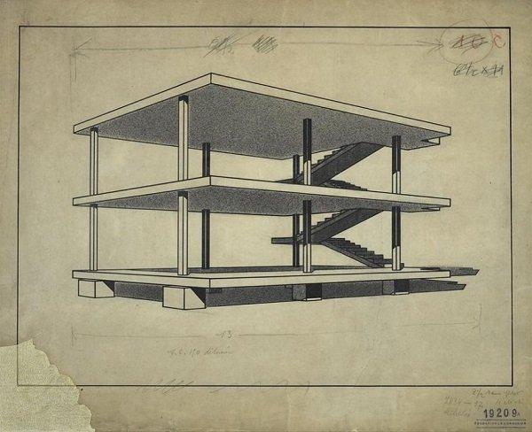 dom-ino Le Corbusier tecnne