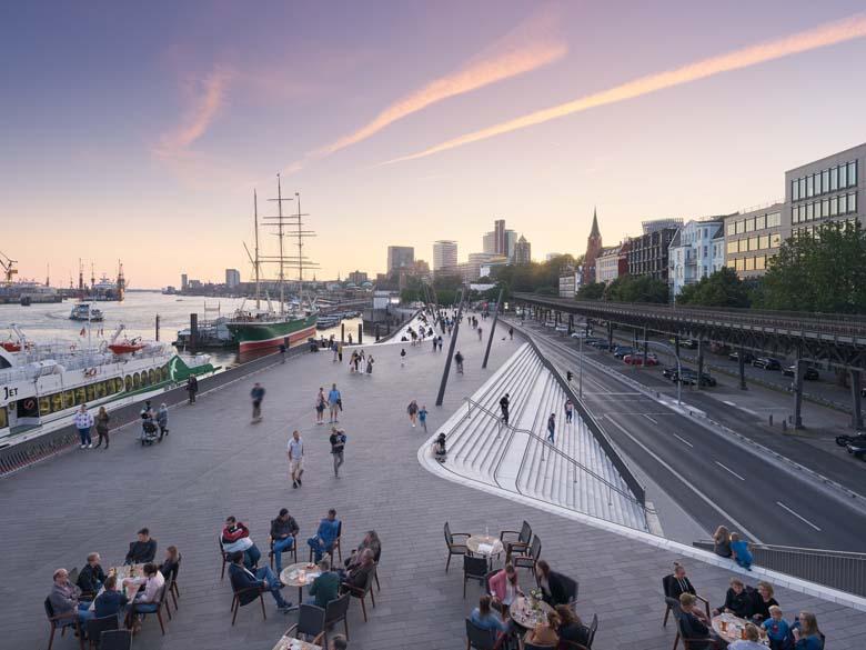 Hamburg River Promenade Zaha Hadid Tecnne