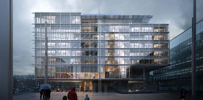 Renzo Piano, l'Ordre Avocats, tecnne