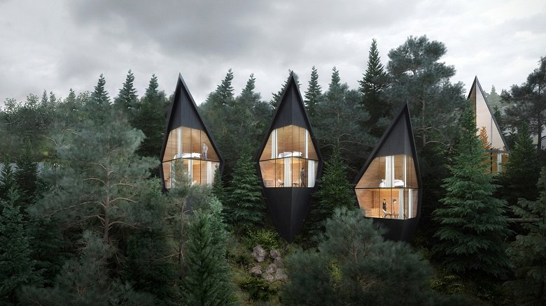 Tree Houses, Peter Pichler tecnne
