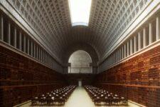 Boullee, Biblioteca, tecnne