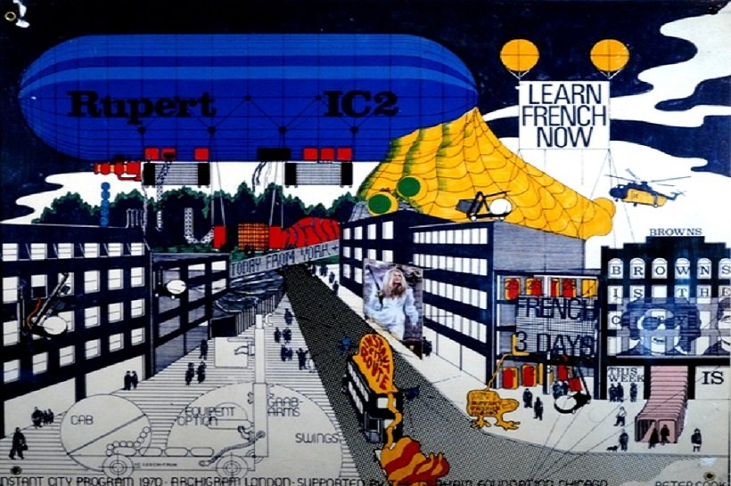 Archigram, Instant City, tecnne