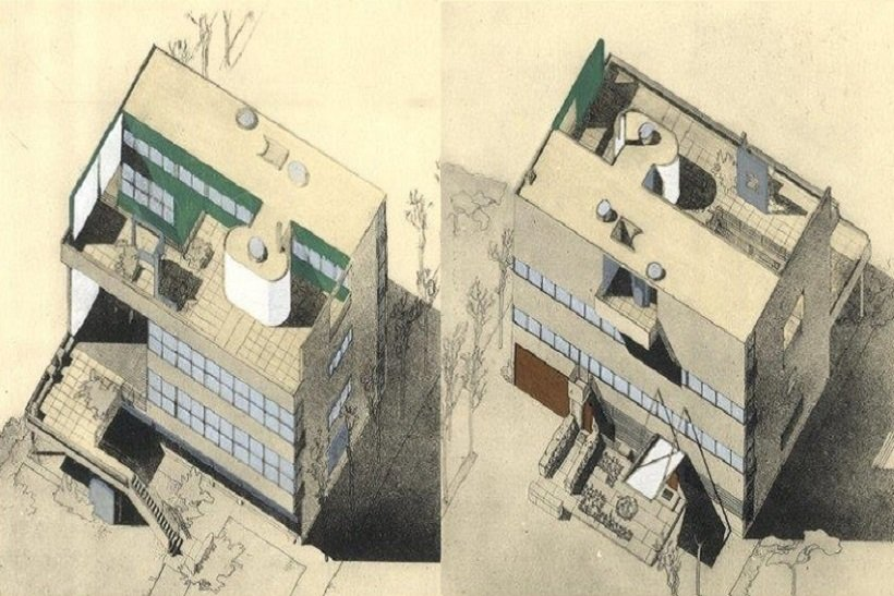 Le Corbusier, Villa Stein, Garches, tecnne
