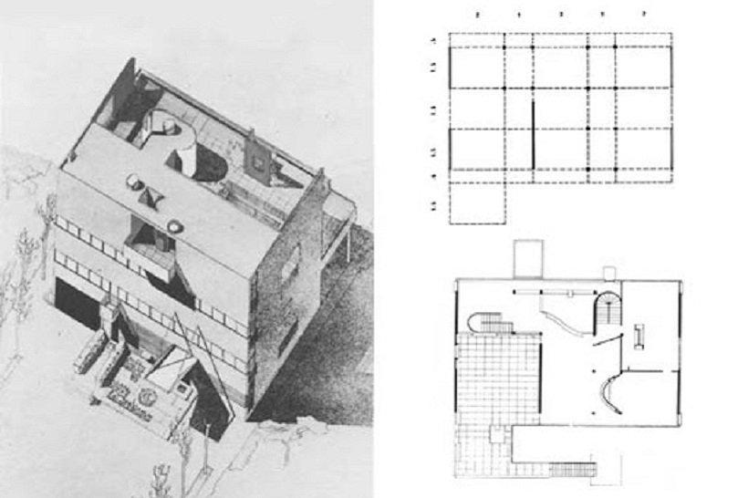 Le Corbusier, Villa Stein, tecnne