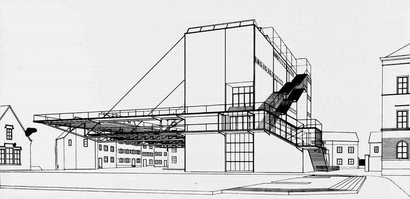Hannes Meyer - Hans Wittwer, Petersschule Bâle, tecnne