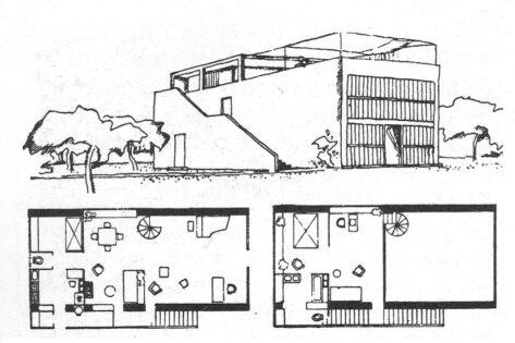 Le Corbusier, Maison Citrohan, 1920, tecnne